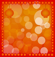 Chinese New Year Lantern on Red Abstract Backgroun vector image vector image