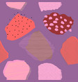 collage contemporary abstract berries seamless vector image vector image