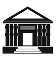 Colonnade icon simple style vector image vector image