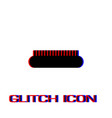 comb icon flat vector image vector image