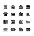 commerce store front glyph icon flat vector image vector image