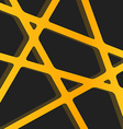 Crossed lines abstract gentle orange and yellow vector image vector image