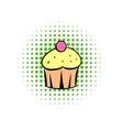 Cupcake comics icon vector image vector image