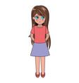 cute anime girl manga vector image vector image