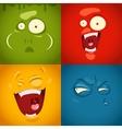 cute cartoon emotions fear disgust laugh vector image vector image