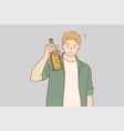 drink alcohol celebration congratulation vector image