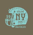 emblem of the rugby team of new york vector image