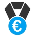 Euro Champion Medal Flat Icon vector image vector image