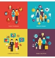 family flat set vector image vector image