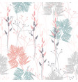 fern and wild herbs seamless pattern vector image vector image