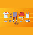 fitness clothes shop website design vector image vector image