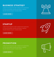 Flat design concept for business strategystartup vector image