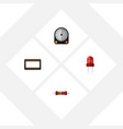 flat icon device set of resistance mainframe vector image