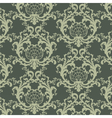 floral damask baroque ornament pattern vector image vector image
