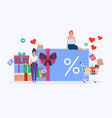 gift card with percent sign and promotion vector image vector image