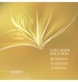 Golden background collagen solution vector image vector image