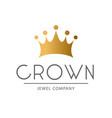 golden sign crown king design modern logos vector image