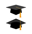 graduation cap on white background vector image vector image