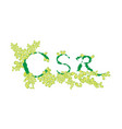green leaves with corporate social responsibility vector image vector image