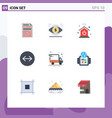 group 9 modern flat colors set for technology vector image vector image