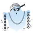halloween ghost scare and rattle chains fun vector image vector image