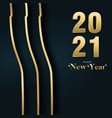 happy new year 2021 gold party drink bottle card vector image