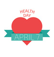Health day poster Flat style vector image vector image
