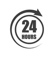 Icon of symbol sign Open around the clock or 24 vector image vector image