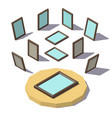 isometric low poly picture frame vector image vector image