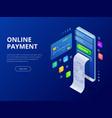isometric online payment online concept internet vector image vector image