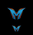 letter m gaming vector image vector image