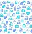 Medical seamless pattern background vector image vector image