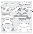 Medieval abstract ribbons crolls banners vector image