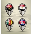 metal map marker steel with glare and shadows vector image vector image