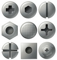 nine different designs on round and square vector image