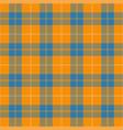 orange and blue tartan plaid seamless pattern vector image vector image