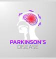 parkinsons disease icon design medical logo vector image vector image