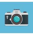 photocamera blue background design graphic vector image