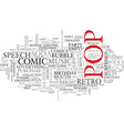 pop word cloud concept vector image vector image