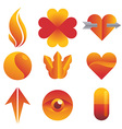 Red and Yellow Icon vector image vector image
