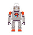 robot man retro cartoon funny vector image
