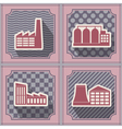 Seamless background with industrial buildings vector image vector image