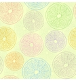 seamless pattern with abstract oranges vector image
