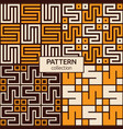 set four korean or chinese seamless patterns vector image vector image