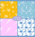 set seamless pattern backgrounds hand drawn vector image