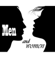 silhouettes men and women vector image vector image