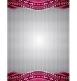 silver background with decorative ornaments vector image vector image