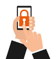 smartphone security vector image vector image