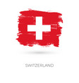 switzerland colorful brush strokes painted vector image