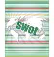 swot word on touch screen modern virtual vector image vector image